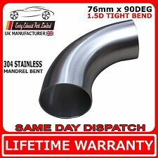 76mm 3 inch x 90 degree 1.5D 304 Stainless Steel Exhaust Mandrel Bend tube pipe