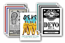 DEVO  - 10 promotional posters - collectable postcard set # 2