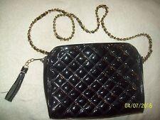 "Ladies TALBOT's 10"" Black Bubble Padded Chain Strap Handbag Purse-Slightly Used"
