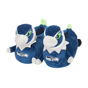 Seattle Seahawks 3D Mascot Youth Kids Slippers - NEW - FREE USA SHIPPING
