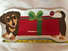 "Dachshund Dog Christmas Holiday Platter Tray Melamine Plate  BPA Free 13"" NEW"