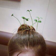 2pcs Fashion Women Grass Green Leaf Hair Clip Antenna Bean Sprout Hairpin Lovely