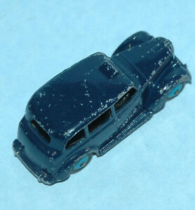 DINKY Meccano England 1953 AUSTIN FX3 TAXI London Cab #40H BLUE, black chassis