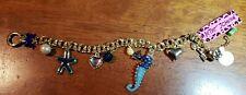 Betsy Johnson Ocean Sea Horse Starfish Sea Star Reef Beach Bracelet