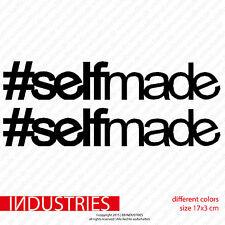 2x #selfmade 17x3 Fun Aufkleber Car Sticker Build not bought