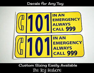 Replacement Stickers for Little Tikes Step2 Ride-on Car Police Coupe car UK 999