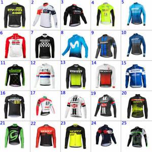 UK Men's Cycling Jersey Bike Team Riding Long Sleeve Shirt Bicycle Racing Top