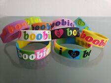 I Love Heart boobies! Huge lot with neon set 10 bracelets Wow Look