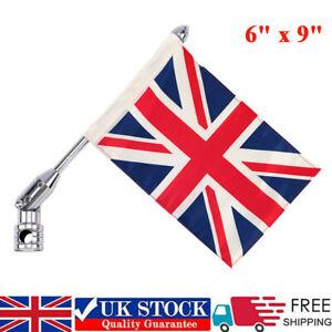 UK Foldable Universal Motorcycle Rear UK Flag Pole Luggage Rack Mount For Harley