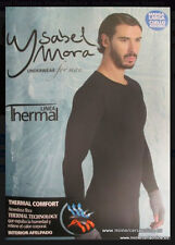 Camiseta termal hombre Ysabel Mora, color negro o blanco