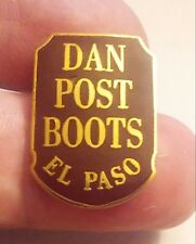 Lapel Pin: Dan Post Boots. Over 20 years old and Rare