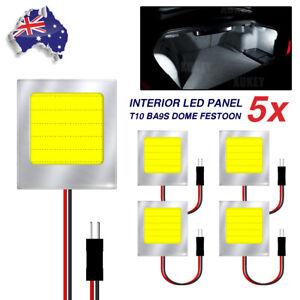 5x Xenon White  12V COB LED Panel Dome Light Auto Car Reading Interior Light DC