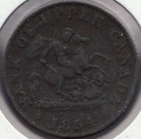 1854 Bank.of Upper Canada - Dragonslayer - ½ Penny - Superfleas - PC-5C1