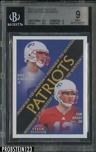 2000 Fleer Tradition #352 Tom Brady Patriots RC Rookie BGS 9 w/ 9.5