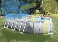 Intex 26795Eh Oval Prism Frame Pool Set, 16.5ft X 9ft X 48in, Light Gray