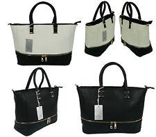 Markenlose Damentaschen im Schultertaschen-Stil mit Verstellbare Trageriemen und Reißverschluss