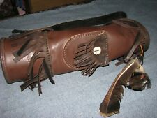 Custom Made Leather Back Quiver Longbow Recurve Bow Archery Compound Bow