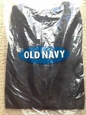 Old Navy Ruffle Henley Long Sleeve Top Black Size XS NWT
