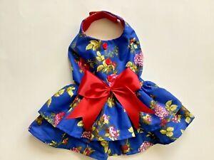 Handmade summer floral doggie dress size small