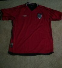 2004 umbro england reversible soccer jersey red and navy mens medium