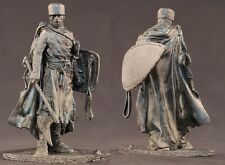 tin toy soldiers unpainted   90mm  Knight Hospitaller, XIII century 1