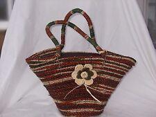 Ladies Hand Woven Pandan Leaf Bag Natural 40 x 45 x 15 cm Rust