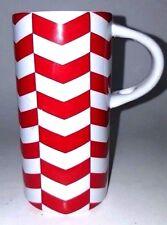 Starbucks 2013 Red & White 8 oz Chevron Coffee Tea Latte Cup Mug No Spoons