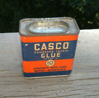 NOS Vintage Casco Powdered Casein Glue In Collectible Tin - Full Sealed Product