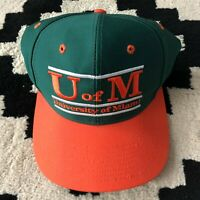 VTG University of Miami Hurricanes Adult OSFA The Game Snapback Hat Cap NCAA