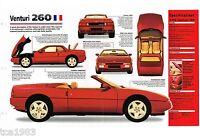 VENTURI 260 SPEC SHEET / Brochure / Pamphlet / Catalog: 1991,1992,1993