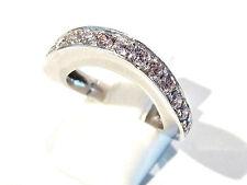 Bijou argent 925 bague anneau élipse oxydes roses zirconium taille 56 ring