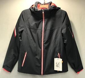 Spyder Project Women's Winter Snow Ski Jacket Gray Pink Size 14 NEW