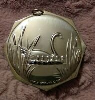 1977 Towle Sterling Silver 12 Days Christmas Ornament 7 Swans Swimming 2.5 Inch