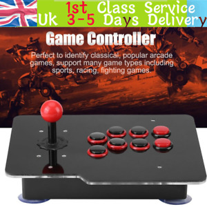 USB2.0 Arcade Fighting Stick Joystick Gaming Controller Spare Button For PC Game
