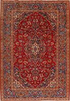 Floral Traditional RED Wool Area Rug Hand-Knotted Medallion Oriental Carpet 7x10