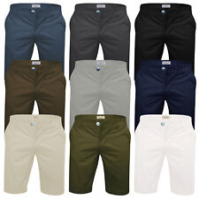 Mens Chino Shorts Stallion Cotton Stretch Golf Half Pant Casual Designer New