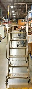 Ballymore Safety Ladder Large Industrial Platform Ladder 7 Steps 100""