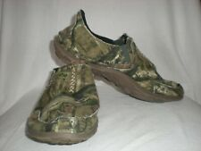 CUSHE,M SLIPPER,MOSSY OAK CAMO. LIGHTWEIGHT CANVAS SURFER SHOES. MEN`S SIZE 8.
