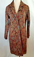 CMC Floral Tapestery Brocade Women Coat 1980's size Medium USA Unlined Boho