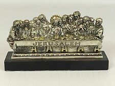Metal Pewter 3D Relief LAST SUPPER Sculpture #925 - Religious Christianity Jesus