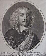 PHILIPPE DE LA MOTTE HOUDANCOURT DUC DE CARDONE COMTE DE BEAUMONT..portrait 1652