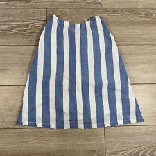 Arsene Et Les Pipelettes Stripe Nautical Dress Size 3 Blue White