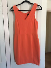 Kardashian Kollection V-neck ottoman dress (orange) size large