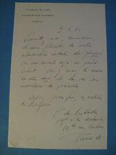 PIERRE DE LABRIOLLE Autographe Signé 1935 HISTORIEN LATINISTE SORBONNE à BERAUD
