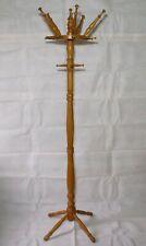 Garderobenständer Holz Kleiderständer Garderobe-Aufhänger 19 Kleiderhaken 183cm