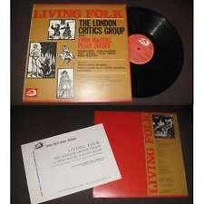 THE LONDON CRITICS GROUP - Living Folk Rare LP Folk 1970 With Booklet