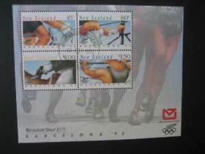 NEW ZEALAND USED MINIATURE SHEET-1992 BARCELONA OLYMPICS SG MS 1674