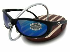 NEW Costa Del Mar FATHOM Black & 580 Blue Mirror Glass 580G