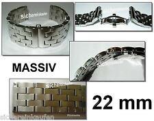 Uhrenarmband Edelstahlband für Luxusuhr 22 mm poliert #349 Butterfly-Schließe