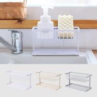 Double Layer Sponge Holder Kitchen Sink Sponge Drain Shelf Bathroom Organizer HL